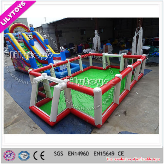 Hot Sale Inflatable Soap Football Field pictures & photos