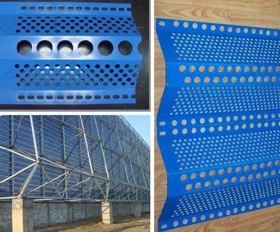 High Quality Windbreak Fence Net Panel Anti-Dust Wind Dust Suppressing Fence System