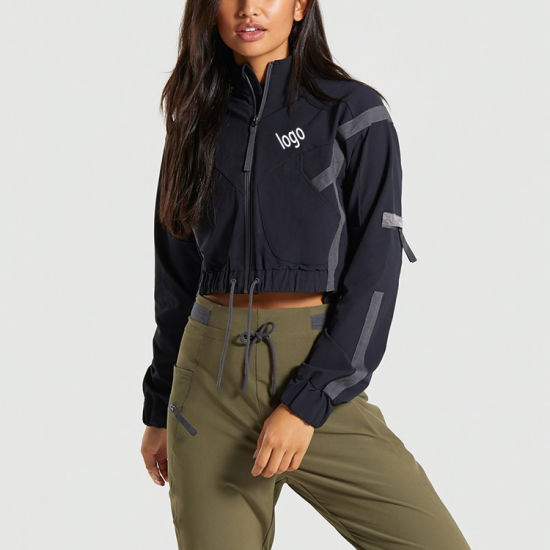 Factory OEM Latest Design Custom Logo Fashion Sports Fitness Workout Activewear Pullover Women's Hoodie