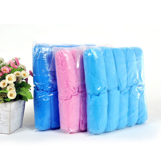 Disposable Non-Woven Shoe Cover with Film