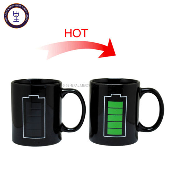 Color Changing Magic Coffee Mug with Battery Graphic