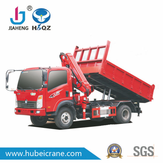 HBQZ mini 3.2 ton knuckle boom truck mounted crane SQ80ZB2 from factory