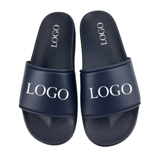 Name Brand Slip on PVC Sandals Slides, Fashion Summer Beach Sandal Mens Sldies, Flat Plain Blank Custom Logo Slide Sandal Men pictures & photos
