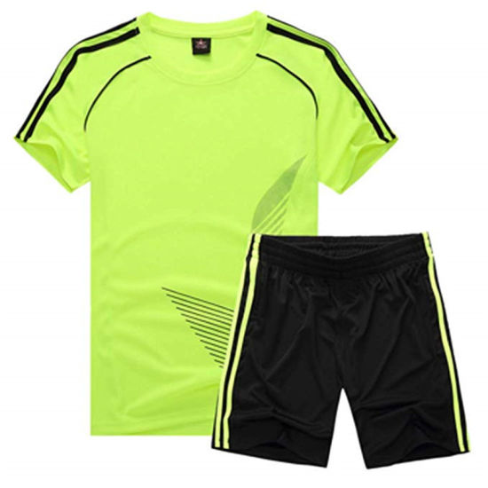 Football Uniform Suits Child Short Sleeve Jersey and Shorts Boys Girls Training Clothes