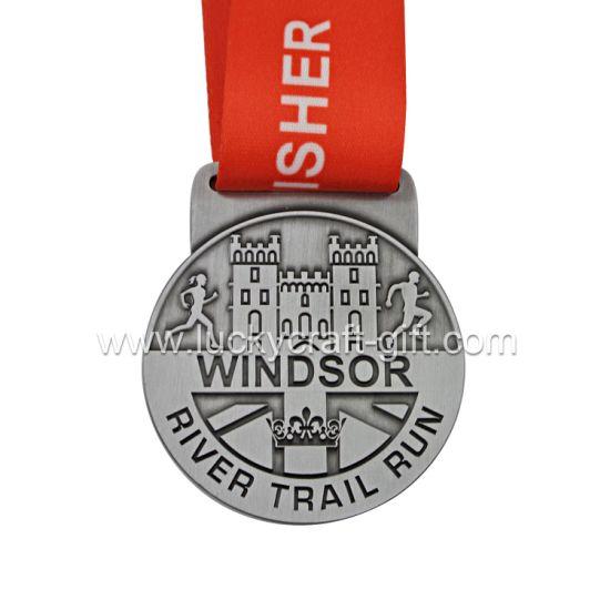 Custom River Trail Run Zinc Alloy Sports Metal Award Medals