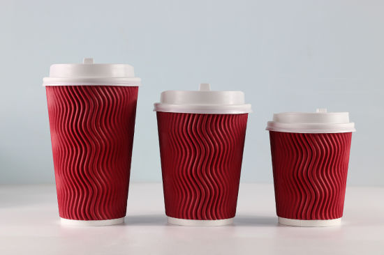 New Product Ripple Wall Insulated Paper Coffee Cup Factory