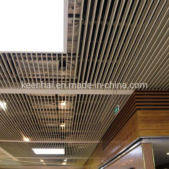 China Decorative Aluminum Strip Ceiling Panel Suspended Metal Ceiling Kh Ed005 China Aluminum Composite Panel Ceiling