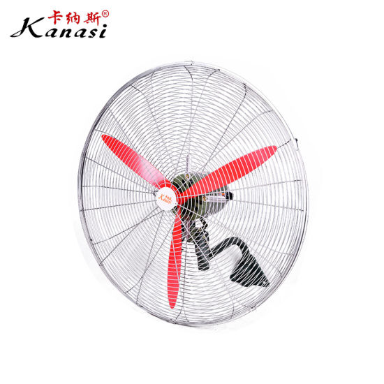 """20 26 30 """" Inch 500 650 750 mm OEM ODM Industrial Oscillating Metal Wall Mounted Industrial Cooling Fan"""