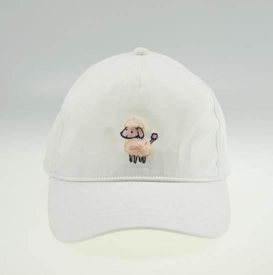 BSCI White Embroidery Cotton Child Baseball Cap pictures & photos