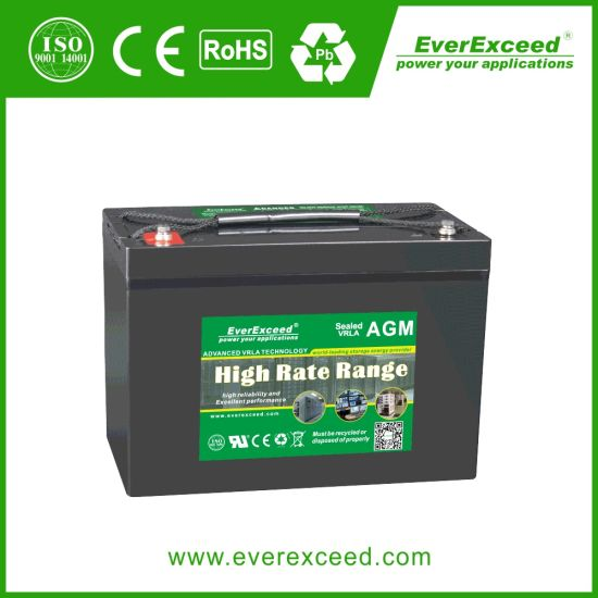 Everexceed High Rate Range UPS/ Telecom/ Communication/ Rectifier 12V 210ah AGM Rechargeable VRLA Battery