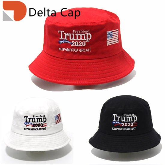Wholesale Custom Trump 2020 American President Election Embroidery Bucket Hat Sport Cap pictures & photos