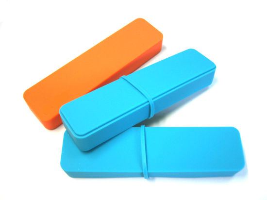 Unbreakable Washable Smooth Logo Customized Silicone Pencil Box, Silicone Stationery Box, Silicone Pencil Cases