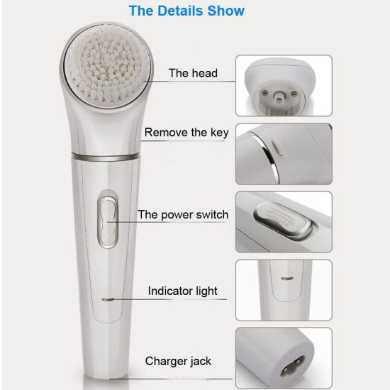 Electric Sonic Skin Care Brush Facial Cleansing pictures & photos