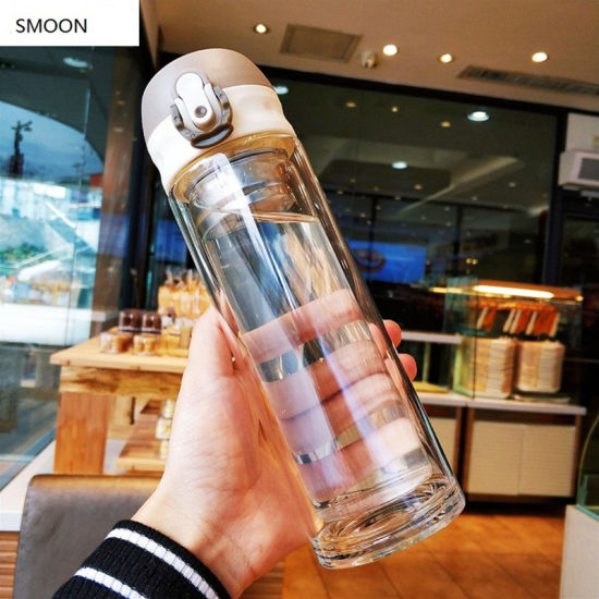 2020 Most Popular Products High Quality Heat-Resistant Unbreakable Glass Water Bottle with Tea Infuser Tea Bottle