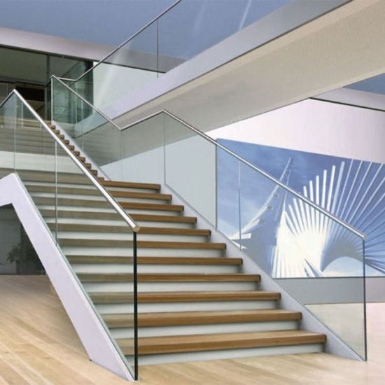 Top Quality Invisible Frameless Aluminum U Channel Staircase Railing Designs