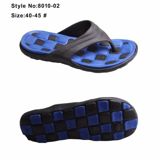 EVA Directly Injection Slippers Men Boys Two Color Flip Flop pictures & photos