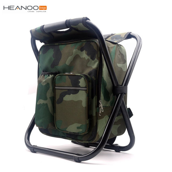 Folding Camping Chair Backpack Stool with Cooler Insulated Picnic Bag pictures & photos