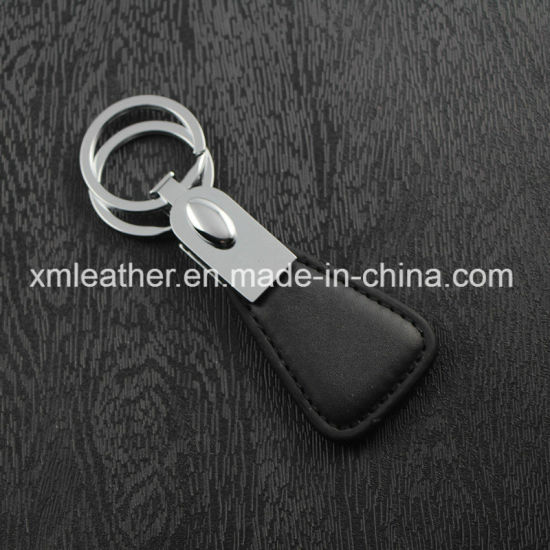 Fashion Leather Handmde Keychain Holder Key Finder with Two Rings pictures & photos