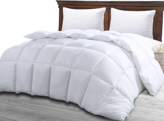 White Queen Comforter Duvet Insert Quilted Corner Tabs Hypoallergenic Plush New