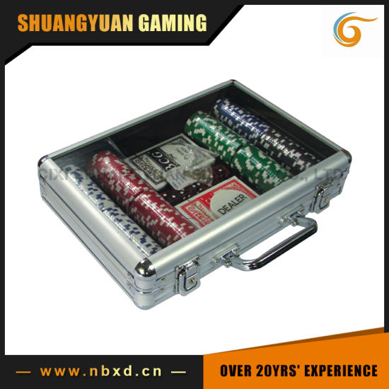 200PCS Poker Chip Set in Transparent Cover Aluminum Case (SY-S14) pictures & photos