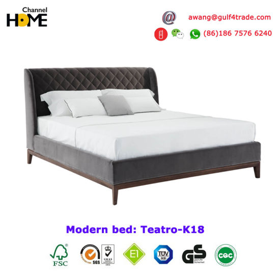 Charming Ottoman Eelegant Design Home King Queen Size Bed (HC K18)