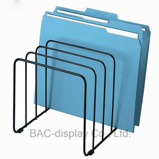 Lightweight Assemblable Metal Wire Tabletop Books Shelf Display Rack