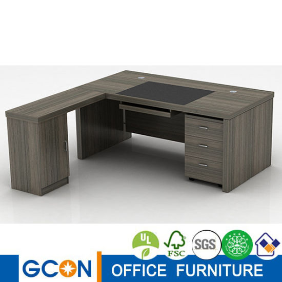 Russian Style Wood Luxury Office Desk Set Manager Room Furniture