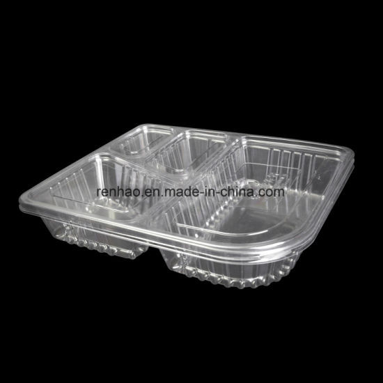 China Biodegrade Clear Plastic Food Service Containers with Clear