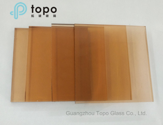 Pink Color Tinted Glass for Buildings Glass Wall (C-P) pictures & photos