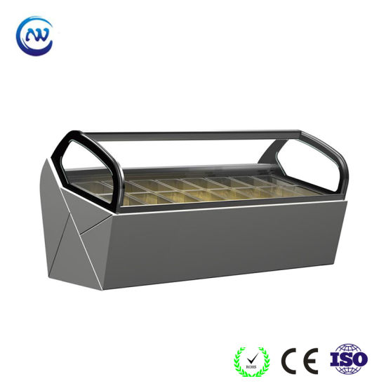 Display Cooler Automatic Defrosting Ice Cream Showcase (QV-BB-10)
