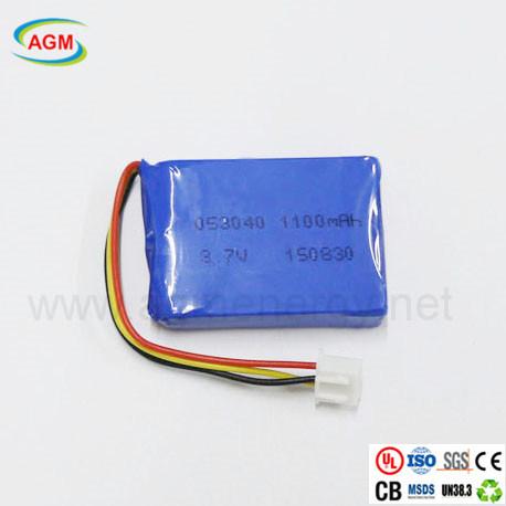 Customized Pl053040 1100mAh 3.7V Lithium Battery