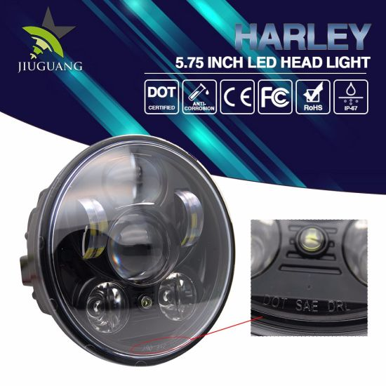 Waterproof Auto LED Light 50W 5 75inch Harley Davidson Motorcycle Hi/Low  Beam Round LED Headlight