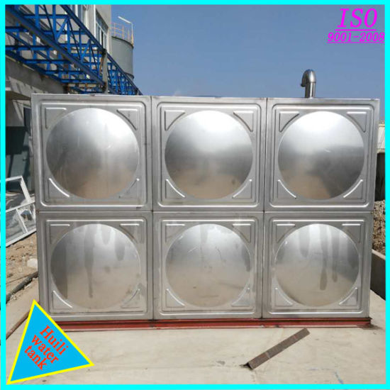 China Food Grade Drinking Water Storage Ss Square Water Tank - China