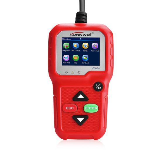 Konnwe Kw680 OBD2 Eobd Can Automotive Scanner Support SAE J1850 Protocol  Full OBD 2 Functions Diagnostic Multi-Language Pk Om126