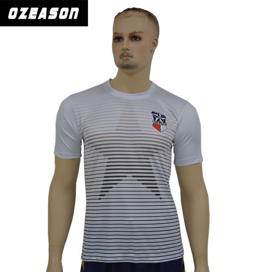 Ozeason Custom Dye Sublimation Printing Men′ S Summer White Printed T Shirt