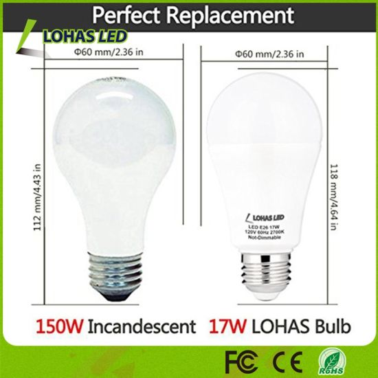 Bulb LED 150W 100 Energy China Saving A19 Equivalent17W 6b7Ygyvf