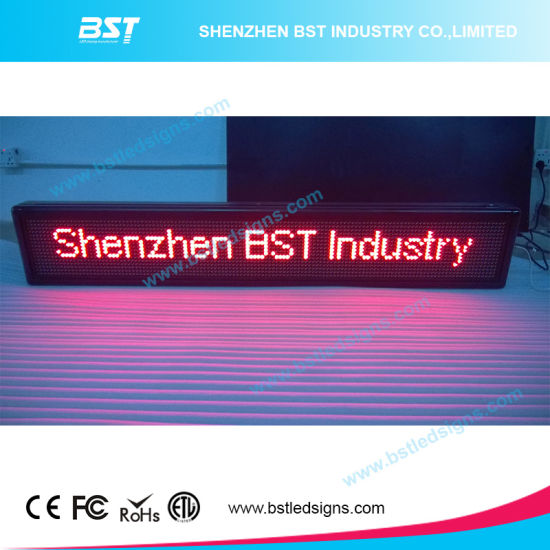 High Brightness P10 Red Color Semi-Outdoor LED Moving Sign (Programmable)