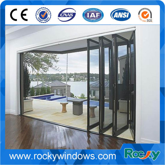 Customized Size Sound Proof Folding Door with Laminated Glass pictures & photos