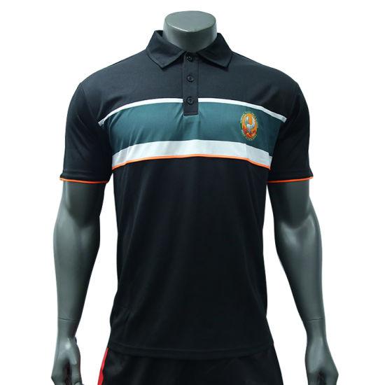 Healong High Quality Patchwork Sublimation Polo Custom Cheap Polo Shirt for Men