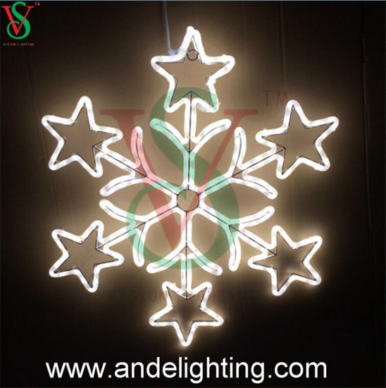outdoor led snowflake motif lights for commercial christmas decorations