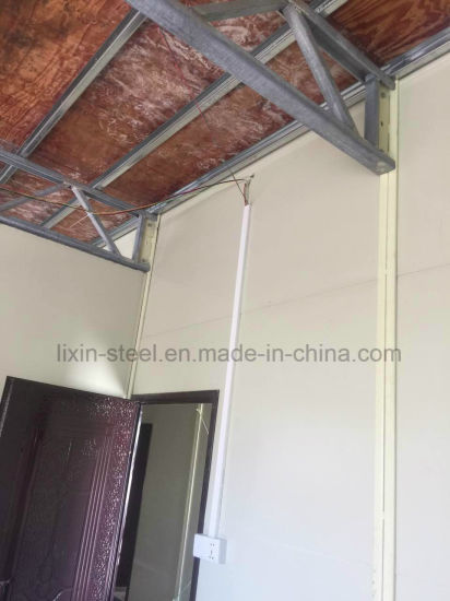 China Double Floors Prefab Steel Frame House / Mobile Worker House ...
