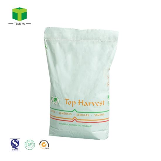 20kg 25kg 3ply Paper Bag Flour Milk Resin Powder Packing Kraft Paper Bag
