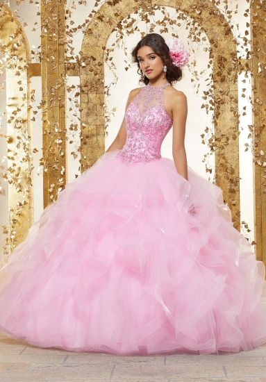 High Quality Custom Make Beaded Ballgown Bridal Evening Prom Quinceanera Dresses 90230