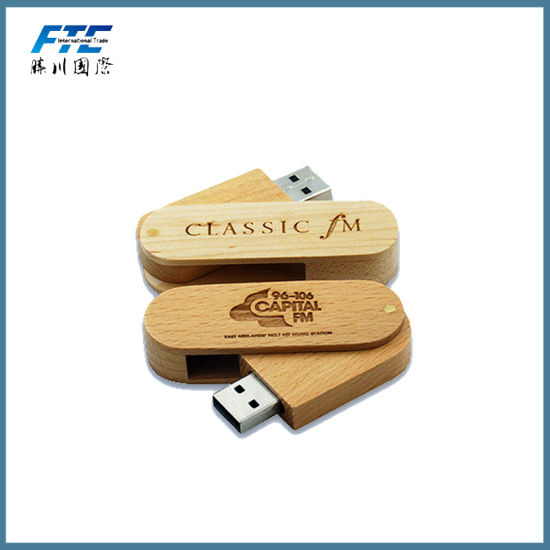 Custom Wooden USB Stick Bamboo USB Flash Drive for Promotional Gift