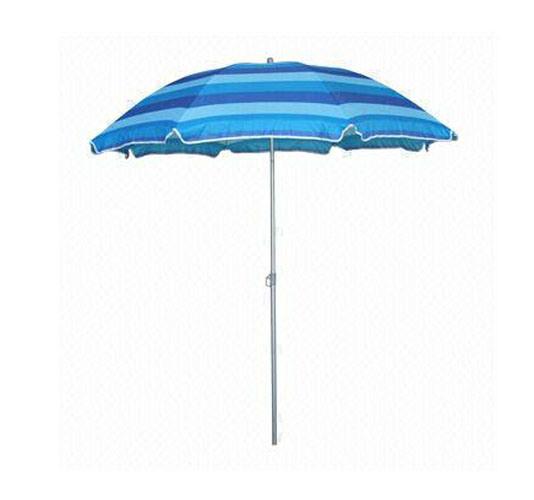 240cm*8k Stripe Aluminum Beach Umbrella OEM Orders Are Available
