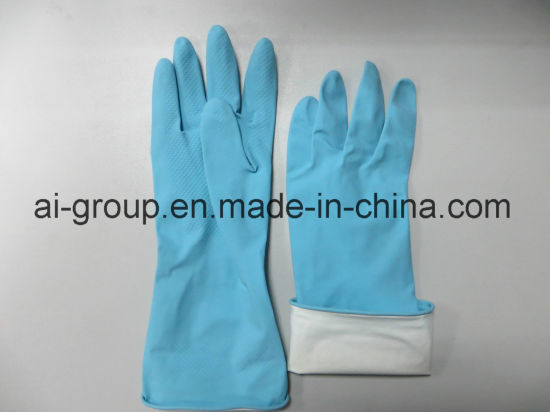 Household Latex Gloves for Food Processing and General Purpose pictures & photos