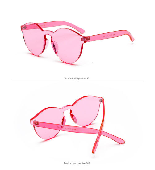afb416ee21 New Fashion Glasses Frame PC Temple Double Bridge Mirror Lens Sunglasses