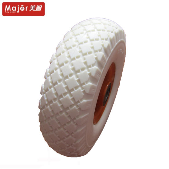 3.00-4 Wagon Trolley Wheel PU Foam Solid Tyre pictures & photos
