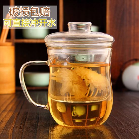 Two Piece High Quality Glass Cup for Drinking Tea pictures & photos