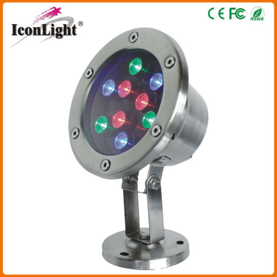 IP68 9*3W LED Pond Light Underwater Lighting pictures & photos